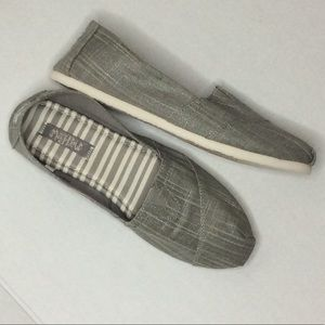 Mad Love Grey Twill Slip On Casual Shoes EUC 10